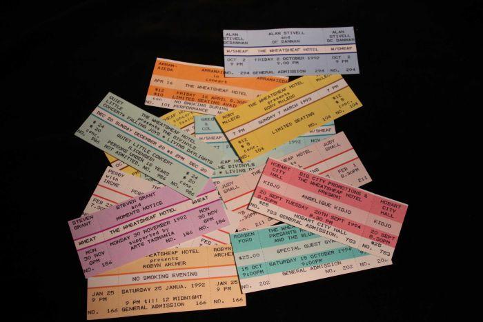 David Laskey's ticket collection.