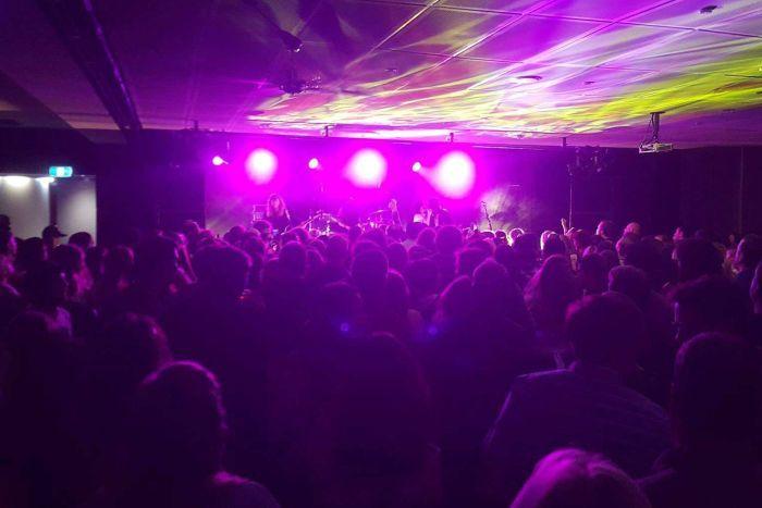 The live music room at Granada Tavern Hobart, 2018.