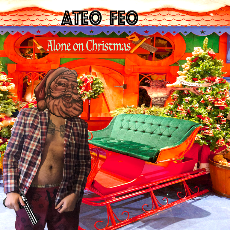 'Alone on Christmas' is a song about consumerism, commercialism and a lot more from 'Ateo Feo'
