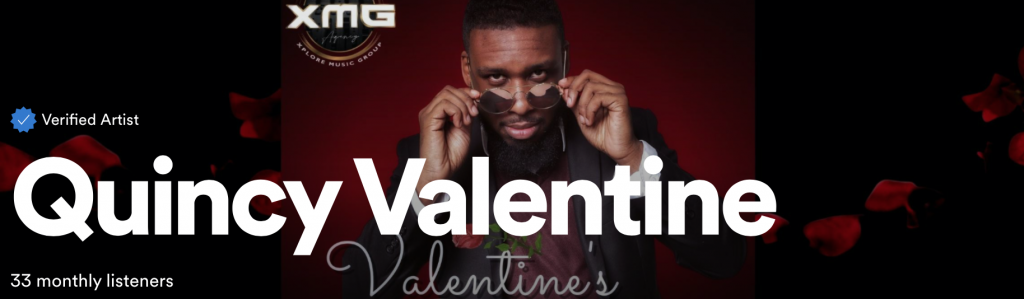 Quincy Valentine has worked with many different artists and warmed the hearts and minds of many through his art; he has released his first EP 'Valentine's Day'