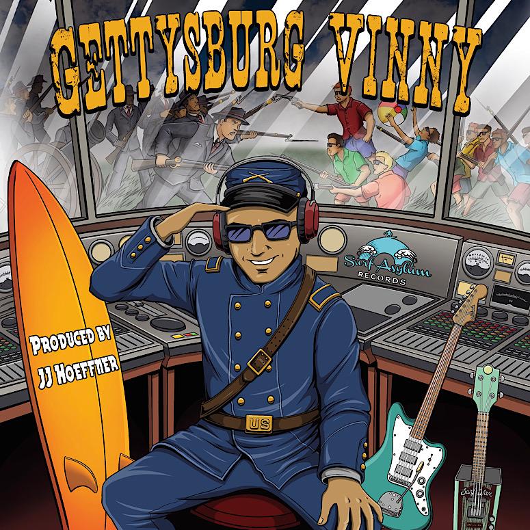 "Originally from Long Island, NY,  'Beachfront Vinny' releases 11 track album ""Gettysburg Vinny"""